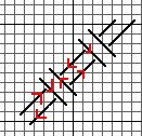 Double Woven Stitch, diagram copyright Napa Needlepoint