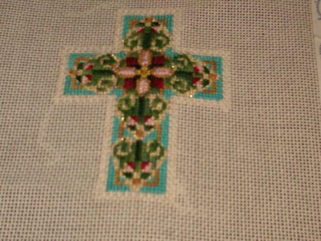designing women needlepoint cross