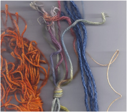 examples of stranded threads, copyright Napa Needlepoint