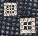 filet crochet grid adapted to 2 sizes