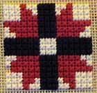 sample block stitched in Mosaic Stitch