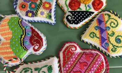 needlepoint hearts
