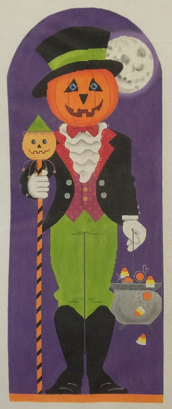 halloween needlepoint figure