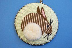 Charley Harper bunny needlepoint