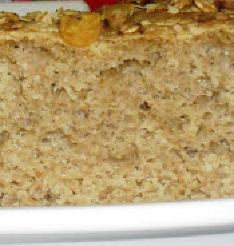 Pão de farinha de linhaça dourada