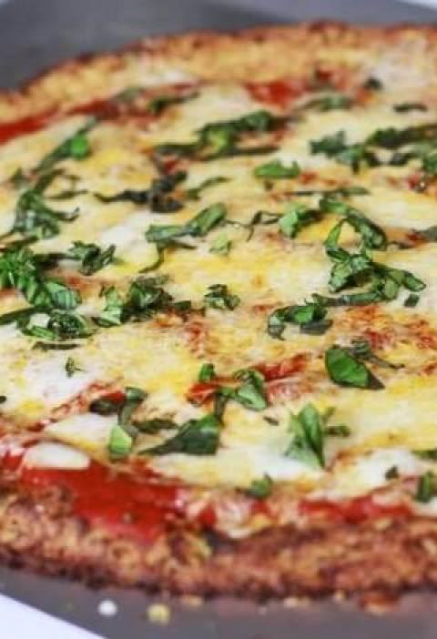Pizza de Massa de couve flor