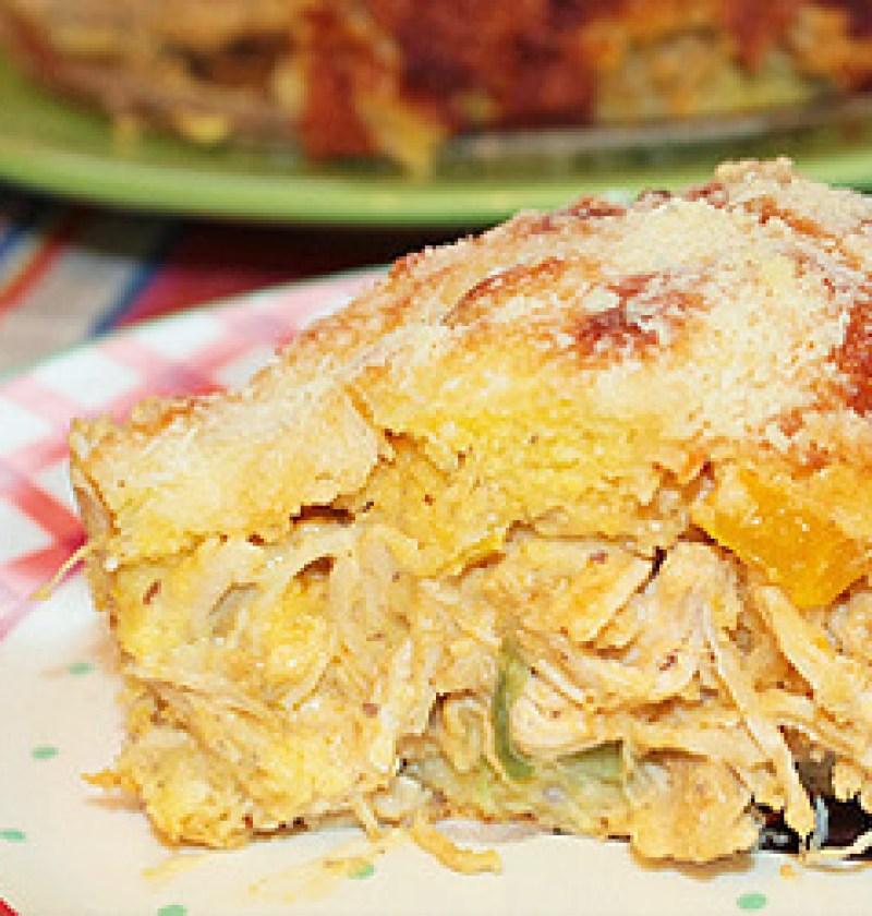 Torta de Frango Low carb com Recheio