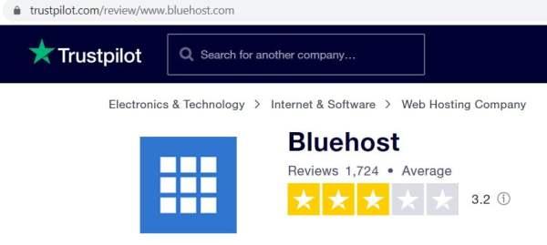 Reviews of bluehost Website Hosting