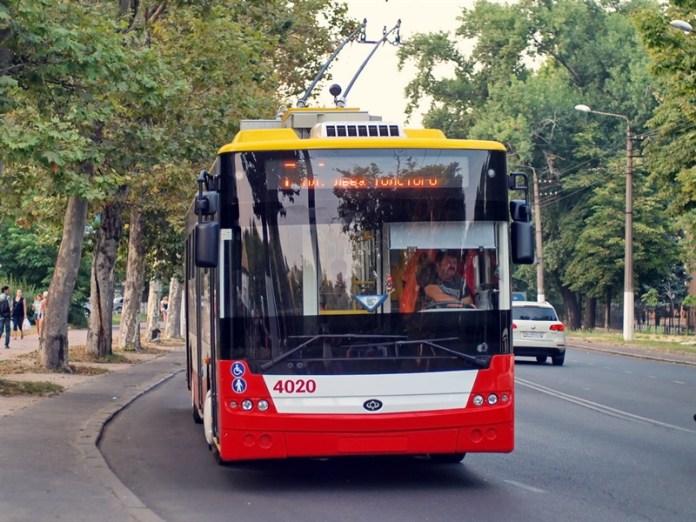Одесса летний троллейбус