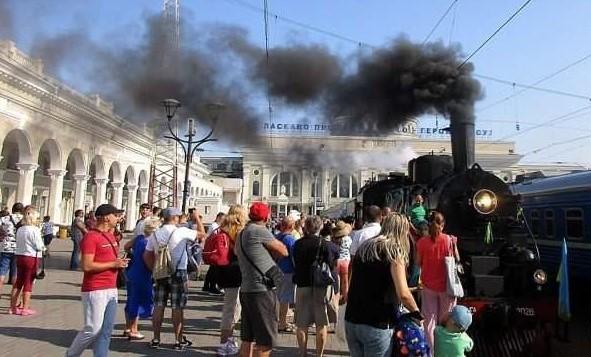 Одесса: как провожают паровозы…