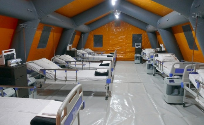 развертывание мобильных госпиталей