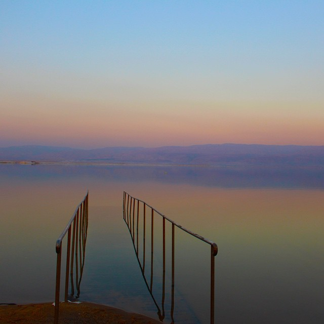 Peaceful #sunsets at the #DeadSea #NAPerfectWorld #travel #Israel