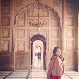 Maryam at Badshahi Mosque