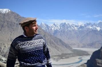 Me in Khaplu with the Karakorum range in the background.