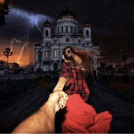 So dramatic. At Cathedral of Christ the Saviour in Moscow, Russia. @muradosmann