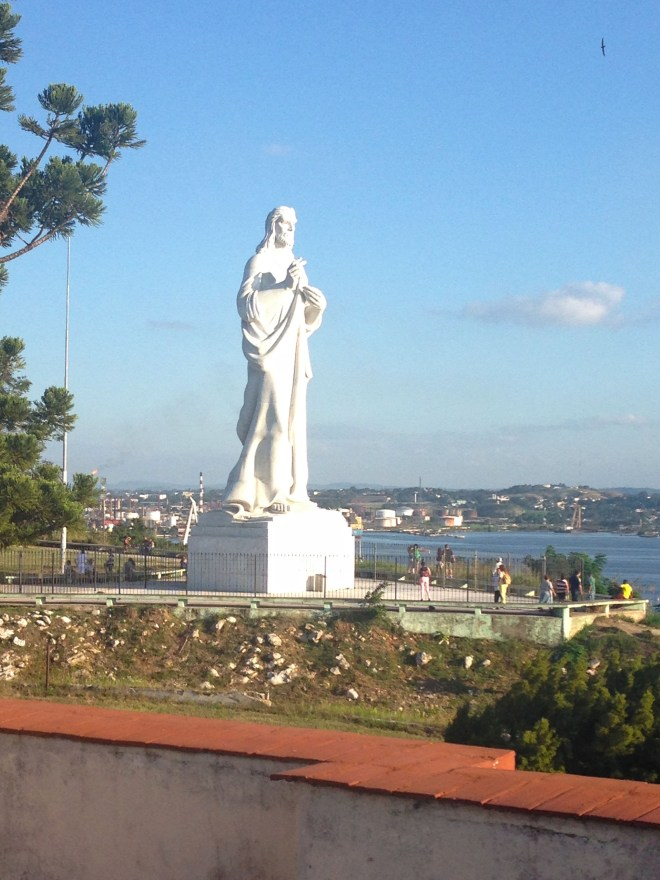Cristo de La Habana is a large sculpture of Jesus by Cuban sculptor Jilma Madera on a hilltop overlooking the bay of Havana.