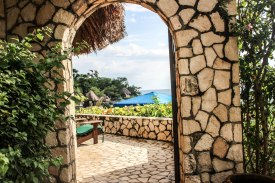 this beautiful archway welcomed me into my villa