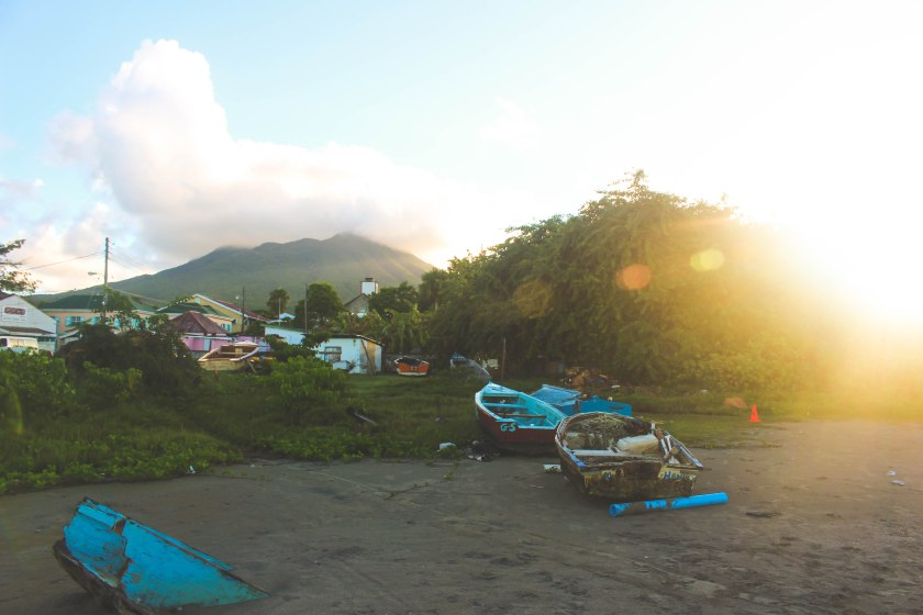 View of Nevis Peak from beach in Charlestown 2.jpg