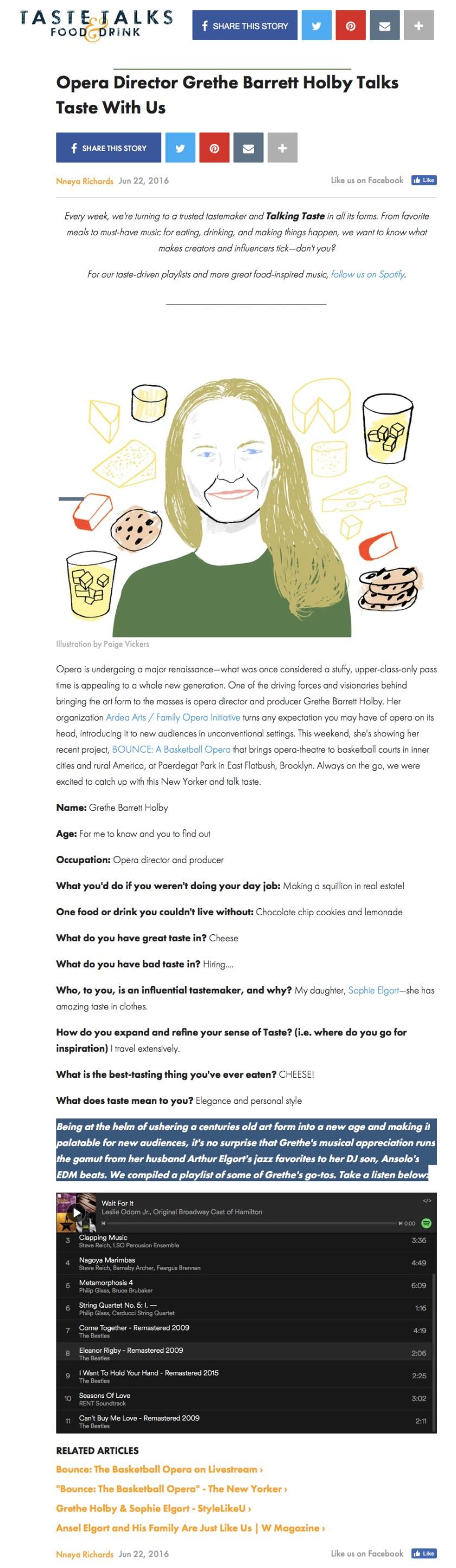 TasteTalks.com - 6.22.16 - Grethe Barrett Holby