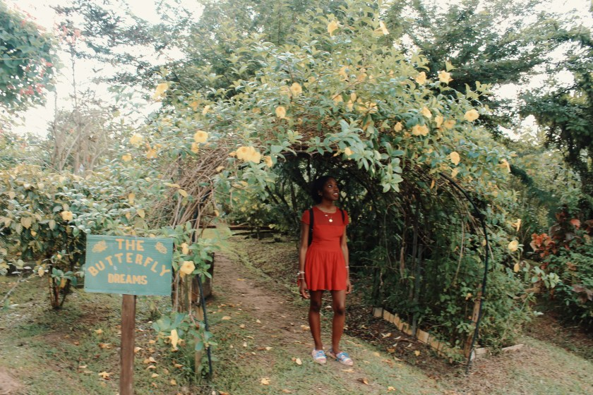 Nneya Richards in Butterfly Garden at Bollywood Veggies