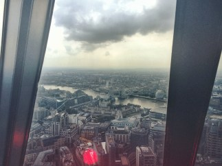 Here are the views from the very top of the Gherkin building.