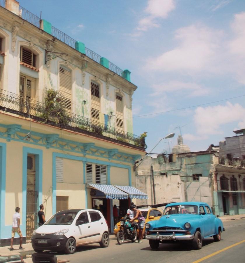 34 Blue Car Chinatown by Nneya Richards