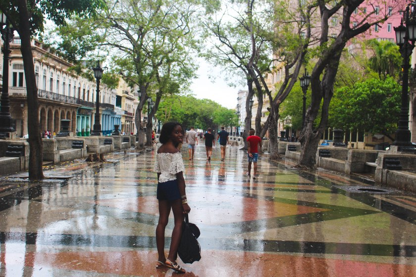 41 Nneya on Wet Paseo del Prado by Nneya Richards