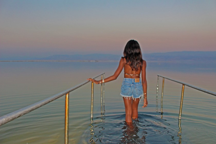 Nneya Richards in the Dead Sea Israel