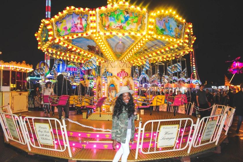 Yellow Carousel Winter Wonderland by Nneya Richards