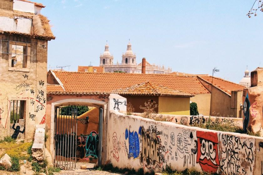 Graffiti in the Yard of the Palacio Lisbon 2016 Nneya Richards.JPG