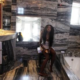 In Bathroom by Nneya Richards