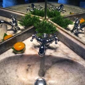 sink in marble bathroom at Palacio Belmonte by Nneya Richards