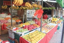 fruit stands in the Geylang