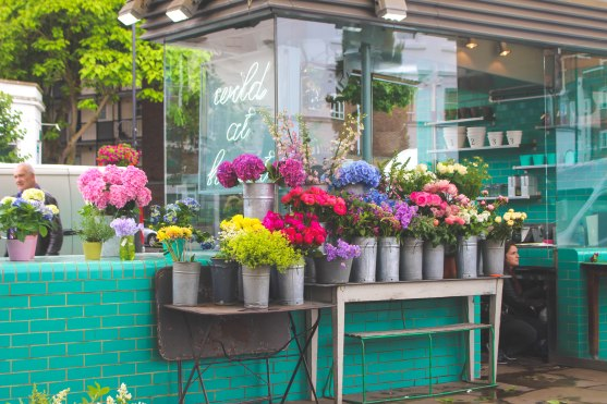 When I worked at Topshop PR in New York, you wouldn't believe the amount of time we spent trying to get displays for events to look as quintessentially English flower shop as this.