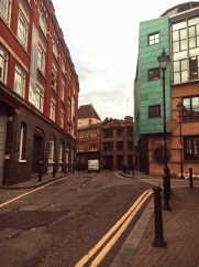 heading to the Vice headquarters in East London, I got off at Paddington and just wandered for a bit. Here's Newcastle place. This area is a stark contrast from where I stay in West London, but I love the classic London grit.