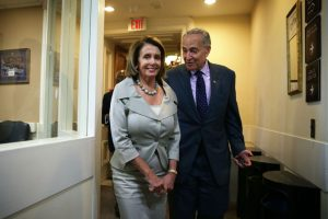 House Minority Leader Nancy Pelosi and incoming Senate Minority Leader Charles Schumer.Photo: Alex Wong/Getty Images