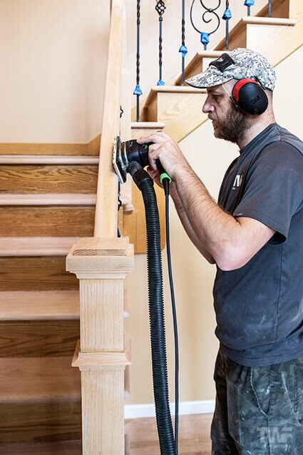 Wood Stair Restorations By Tadas Wood Flooring Naperville Il   Sanding And Staining Stairs   Pine   Stair Railing   Wood Stairs   Stair Case   Stair Risers