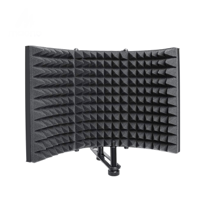 Fordable Microphone Acoustic Isolation Shield