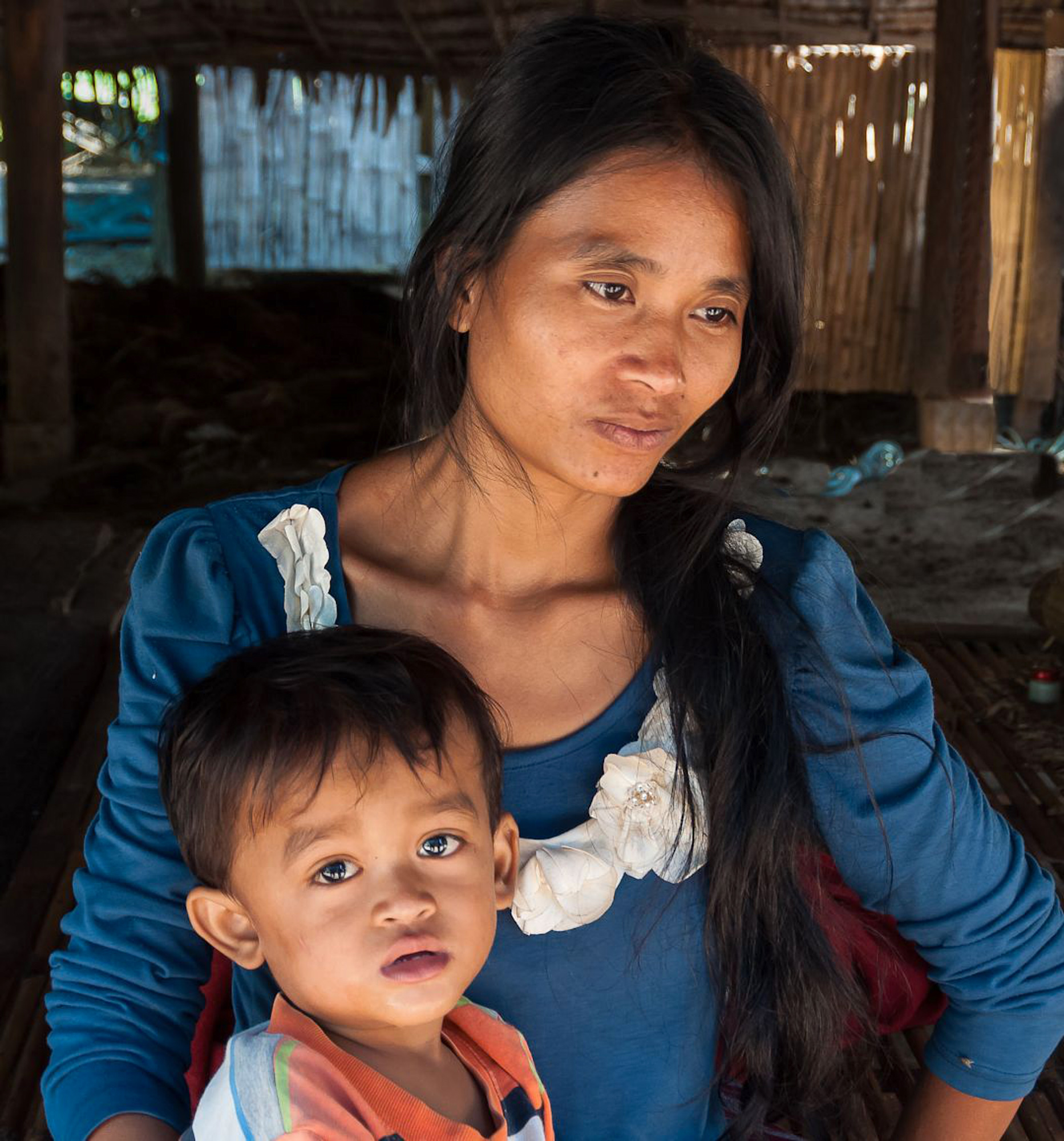 Cambodian Mother and Child, Janet White