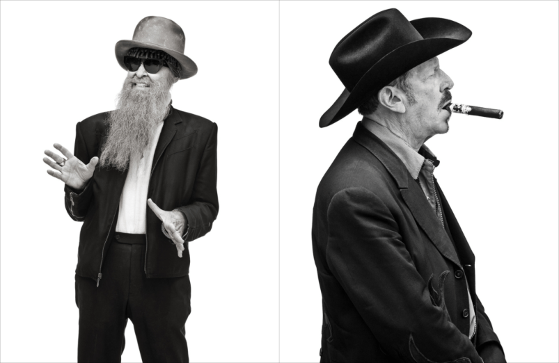 Billy F. Gibbons and Kinky Friedman by George Brainard