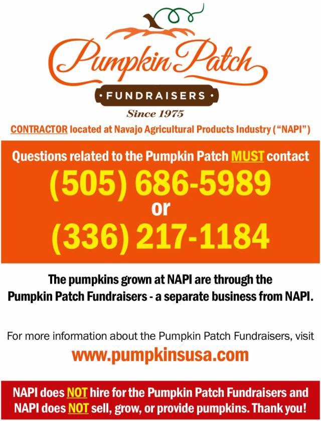 Pumpkin Patch Fundraisers