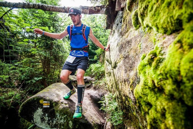 Supermaraton Gór Stołowych, odcinek wśród skał. Fot Materiały organizatora