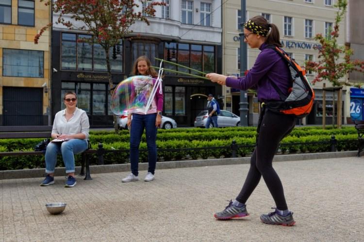 Poznańska Bimba - miejski rajd przygodowy, etap... bańkowy. Fot. Materiały organizatora