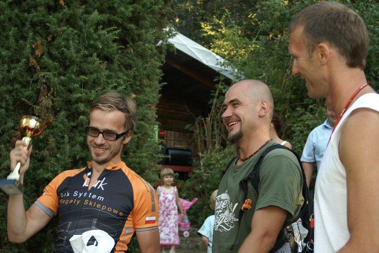 Z Wojtkiem Łachutem (mniej wycieniowanym niż obecnie) na Rajdzie Mławy w 2008 roku.