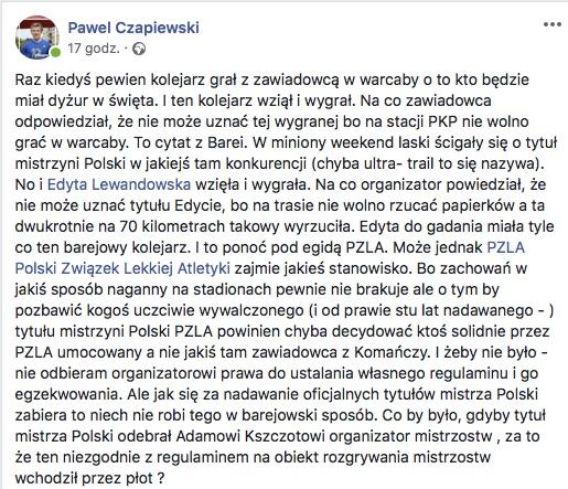 Paweł Czapiewski Facebook