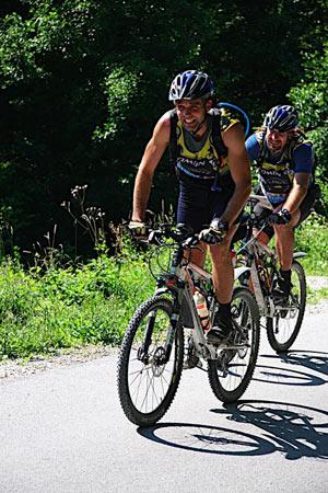 Petr Bloudek na holu (team AlpinePro/Nutrend/Merida z Czech)