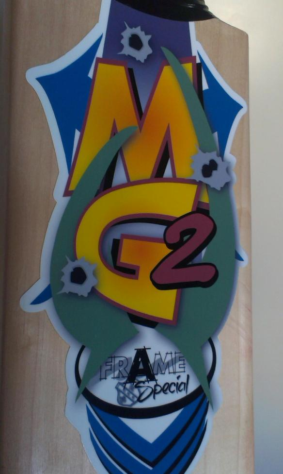 """The """"A-Frame Special""""! My own custom-made, hand-crafted bat from MG2"""