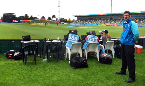 Volunteering at McLean Park's Cricket World Cup games.  Photo c/o Steve Dykes