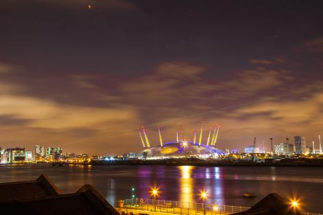 July 2012 The O2 by night, London, UK