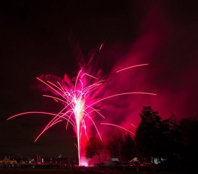 November 2012 Millwall Park Fireworks, London, UK